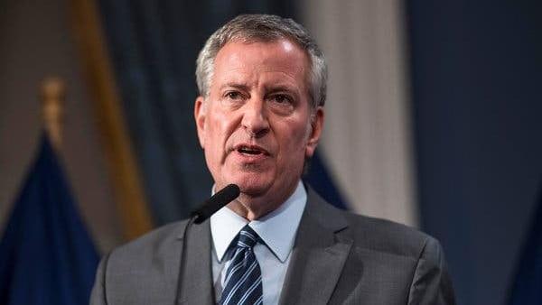 NY City Mayor Bill De Blasio