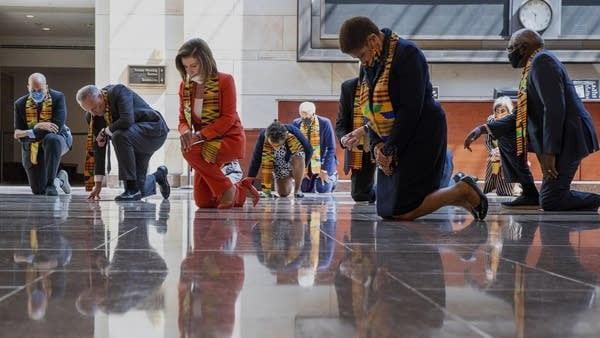 Democrats Kneeling in the Capitol Building Newt Gingrich