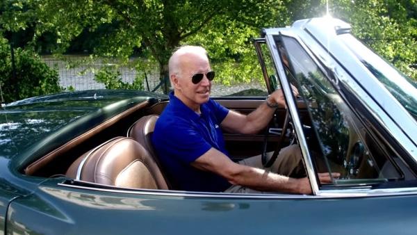 Biden Driving a Convertible