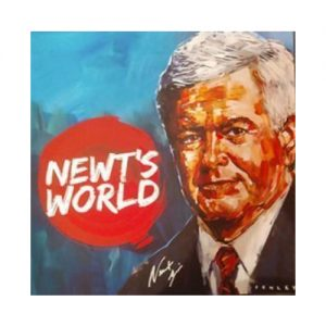 Newt's World Autographed Steve Penley Print