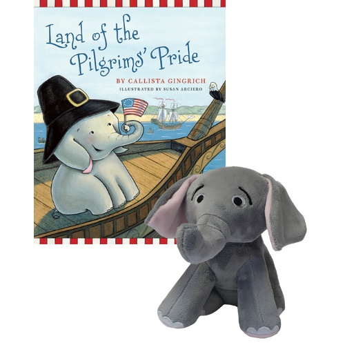 Ellis the Elephant Land of the Pilgrims' Pride - Autographed Book and Plush Toy Callista Gingrich