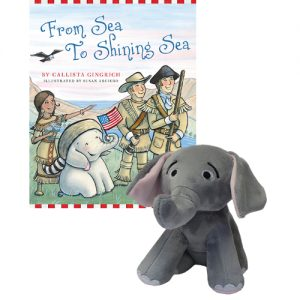 Ellis the Elephant From Sea to Shining Sea - Autographed Book and Plush Toy Callista Gingrich