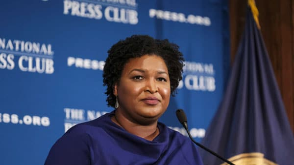 Stacey Abrams The Democrats do not want voting integrity Newt Gingrich