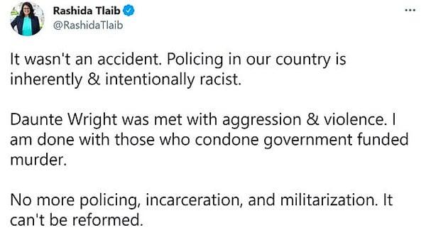 Newt Gingrich Rashia Tlaib Anti Police Tweet Daunte Wright