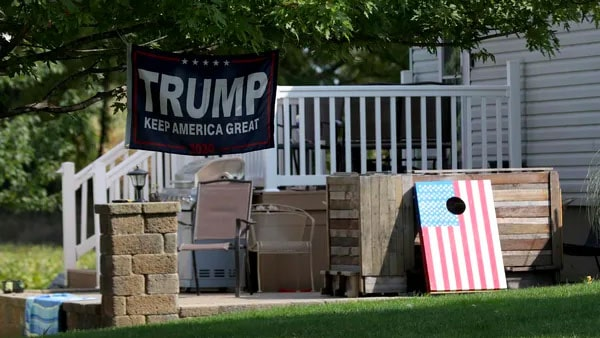 Trump flags, signs, banners are symbolic