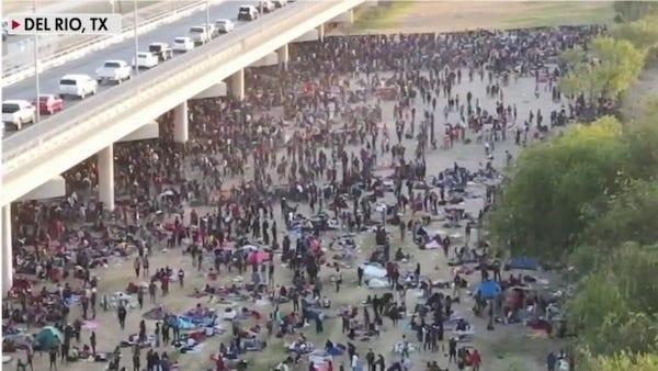 Biden's Border Crisis: More Than 8,000 Migrants Wait under Texas Bridge