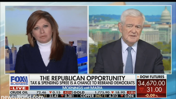 Newt Gingrich on Mornings with Maria | September 16, 2021